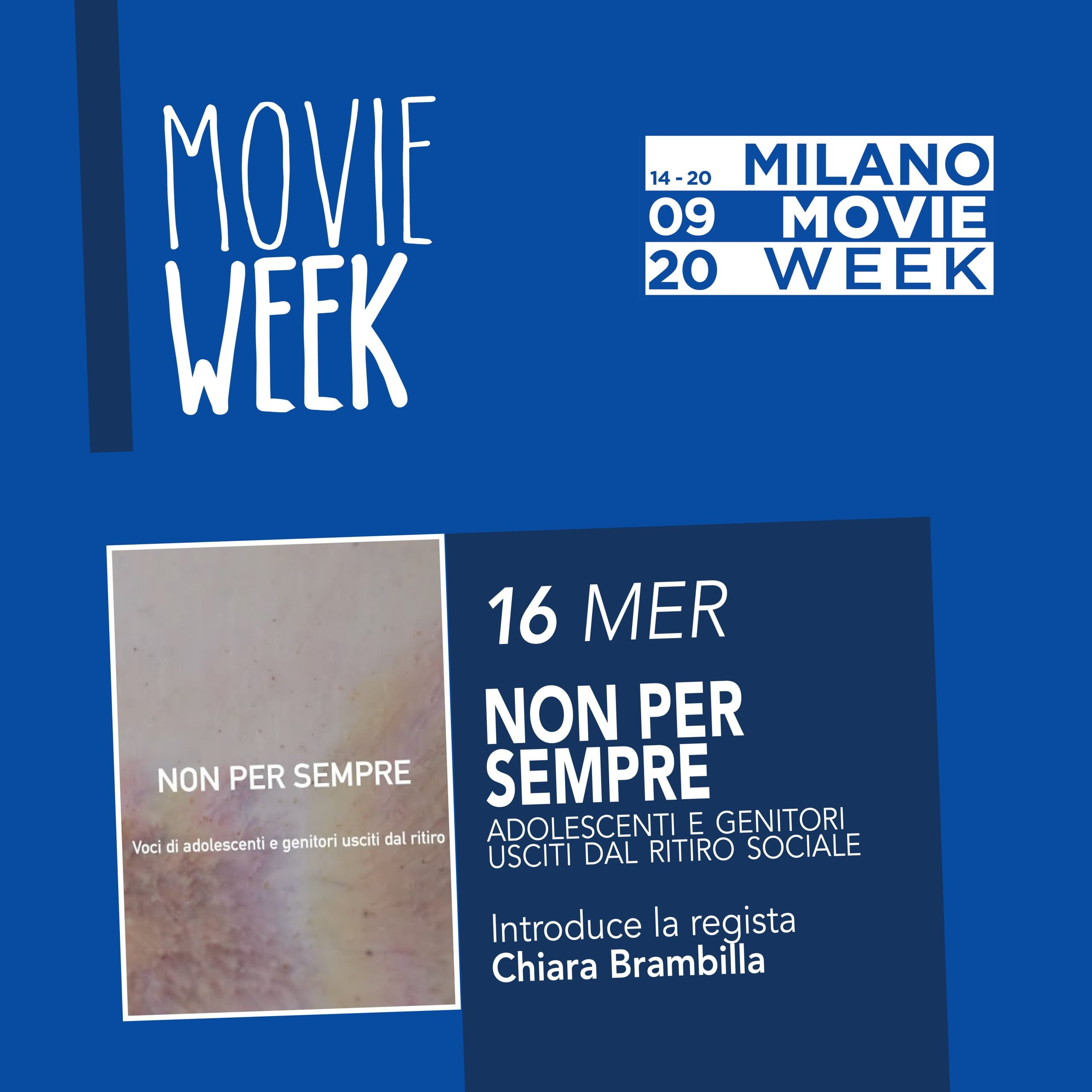 Movie Week Non per sempre. Proiezione al Centro Asteria